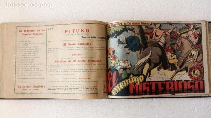 Tebeos: LA MÁSCARA DE LOS DIENTES BLANCOS ORIGINAL COMPLETA - GRAFIDEA 1947 - Foto 41 - 233791200