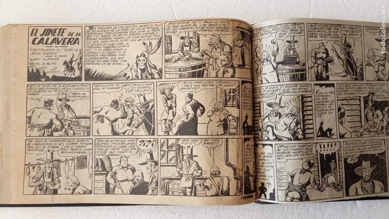 Tebeos: LA MÁSCARA DE LOS DIENTES BLANCOS ORIGINAL COMPLETA - GRAFIDEA 1947 - Foto 43 - 233791200