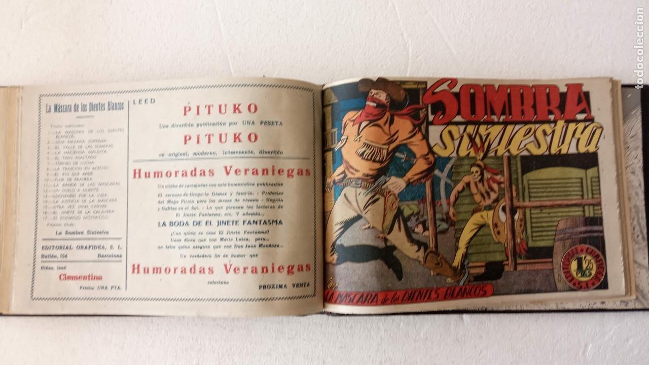 Tebeos: LA MÁSCARA DE LOS DIENTES BLANCOS ORIGINAL COMPLETA - GRAFIDEA 1947 - Foto 45 - 233791200