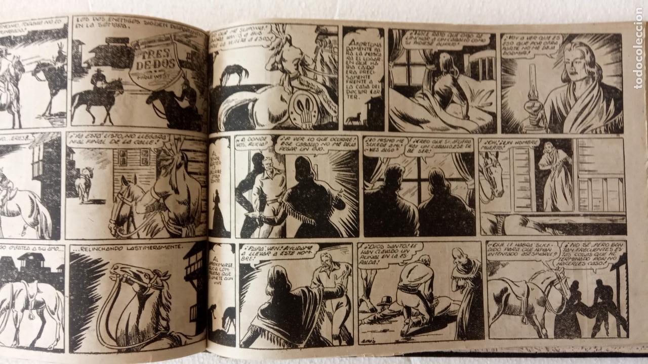 Tebeos: LA MÁSCARA DE LOS DIENTES BLANCOS ORIGINAL COMPLETA - GRAFIDEA 1947 - Foto 50 - 233791200