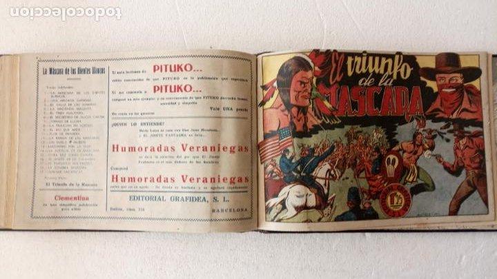 Tebeos: LA MÁSCARA DE LOS DIENTES BLANCOS ORIGINAL COMPLETA - GRAFIDEA 1947 - Foto 51 - 233791200