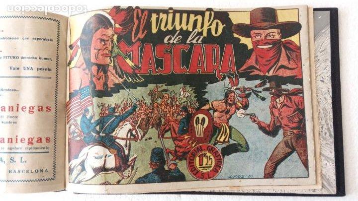 Tebeos: LA MÁSCARA DE LOS DIENTES BLANCOS ORIGINAL COMPLETA - GRAFIDEA 1947 - Foto 56 - 233791200