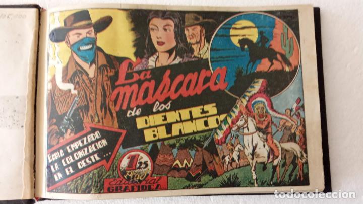 LA MÁSCARA DE LOS DIENTES BLANCOS ORIGINAL COMPLETA - GRAFIDEA 1947 (Tebeos y Comics - Grafidea - Otros)