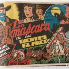 Tebeos: LA MÁSCARA DE LOS DIENTES BLANCOS ORIGINAL COMPLETA - GRAFIDEA 1947. Lote 233791200