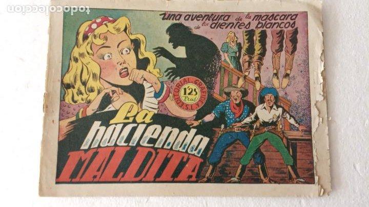 LA MÁSCARA DE LOS DIENTES BLANCOS Nº 4 EDI. GRAFIDEA 1948, ORIGINAL (Tebeos y Comics - Grafidea - Otros)