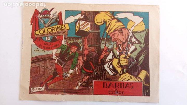 Tebeos: COLORINES SERIE EL TEMIBLE PIRATA ORIGINALES NºS 2,3,4,5 - EDI. GRAFIDEA 1958 - BELLALTA - Foto 3 - 234403665