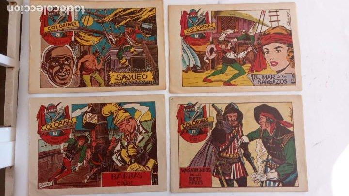 COLORINES SERIE EL TEMIBLE PIRATA ORIGINALES NºS 2,3,4,5 - EDI. GRAFIDEA 1958 - BELLALTA (Tebeos y Comics - Grafidea - Otros)