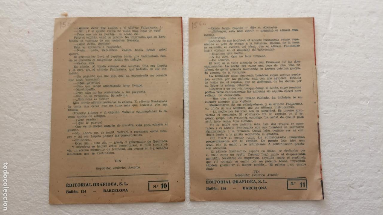 Tebeos: EL JINETE FANTASMA ORIGINALES NºS - 10 Y 11 - EDI. GRAFIDEA 1950, SIN CATALOGAR, por FEDERICO AMORÓS - Foto 3 - 234479920