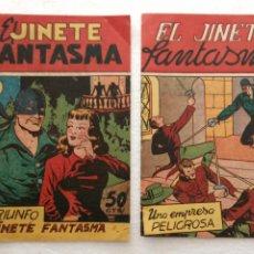 Tebeos: EL JINETE FANTASMA ORIGINALES NºS - 10 Y 11 - EDI. GRAFIDEA 1950, SIN CATALOGAR, POR FEDERICO AMORÓS. Lote 234479920