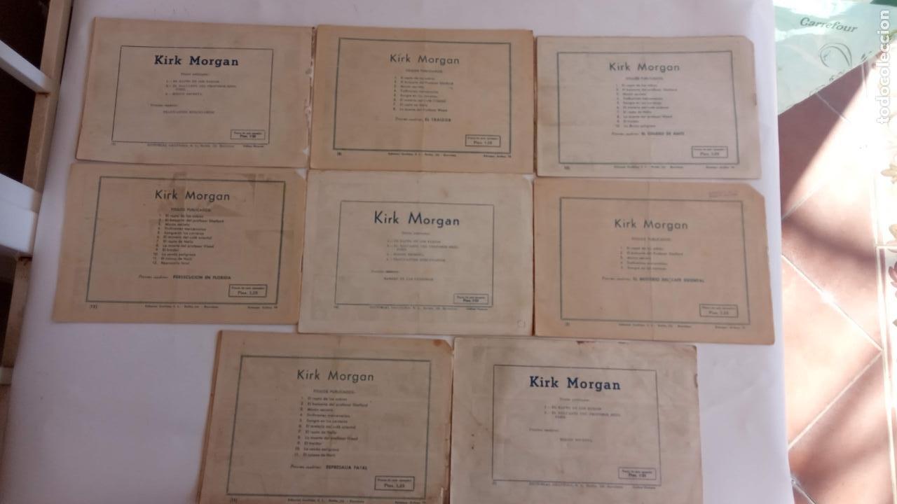 Tebeos: KIRK MORGAN ORIGINALES NºS - 2,3,4,5,8,10,12 EDI. GRAFIDEA 1953 - Foto 3 - 234588675