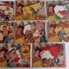 Tebeos: KIRK MORGAN ORIGINALES NºS - 2,3,4,5,8,10,12 EDI. GRAFIDEA 1953. Lote 234588675