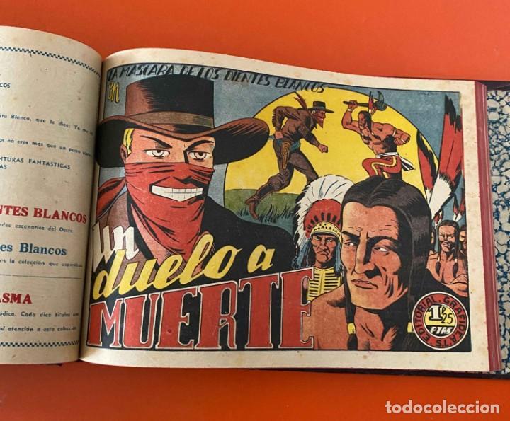 LA MÁSCARA DE LOS DIENTES BLANCOS. GRAFIDEA, 1948. ENCUADERNADA DE EDITORIAL. (Tebeos y Comics - Grafidea - Otros)