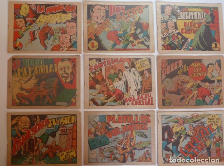 LA MANO QUE APRIETA LOTE Nº 1 - 3 - 4 - 5 - 6 - 7 - 8 - 9 - 10 GRAFIDEA 1948 (Tebeos y Comics - Grafidea - Otros)