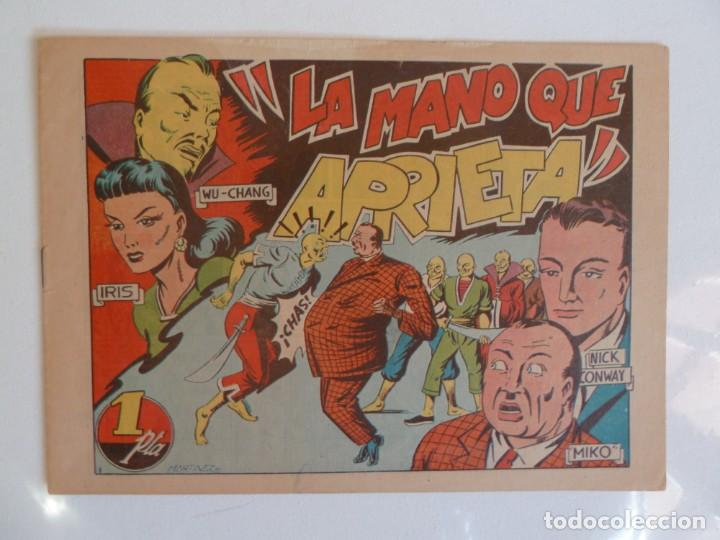 Tebeos: LA MANO QUE APRIETA LOTE Nº 1 - 3 - 4 - 5 - 6 - 7 - 8 - 9 - 10 GRAFIDEA 1948 - Foto 2 - 257694285