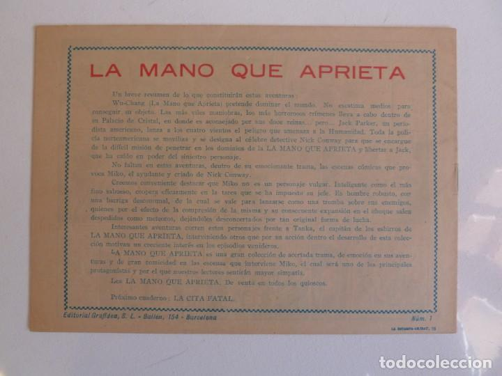Tebeos: LA MANO QUE APRIETA LOTE Nº 1 - 3 - 4 - 5 - 6 - 7 - 8 - 9 - 10 GRAFIDEA 1948 - Foto 3 - 257694285