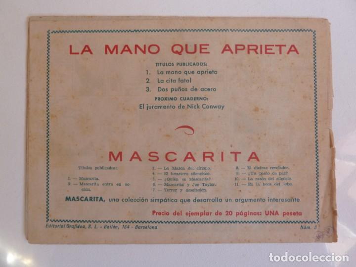 Tebeos: LA MANO QUE APRIETA LOTE Nº 1 - 3 - 4 - 5 - 6 - 7 - 8 - 9 - 10 GRAFIDEA 1948 - Foto 5 - 257694285