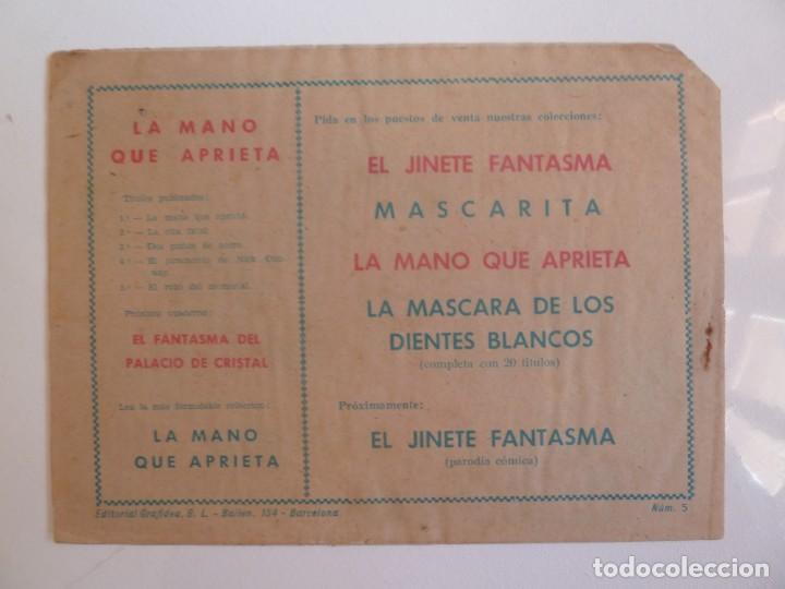 Tebeos: LA MANO QUE APRIETA LOTE Nº 1 - 3 - 4 - 5 - 6 - 7 - 8 - 9 - 10 GRAFIDEA 1948 - Foto 9 - 257694285