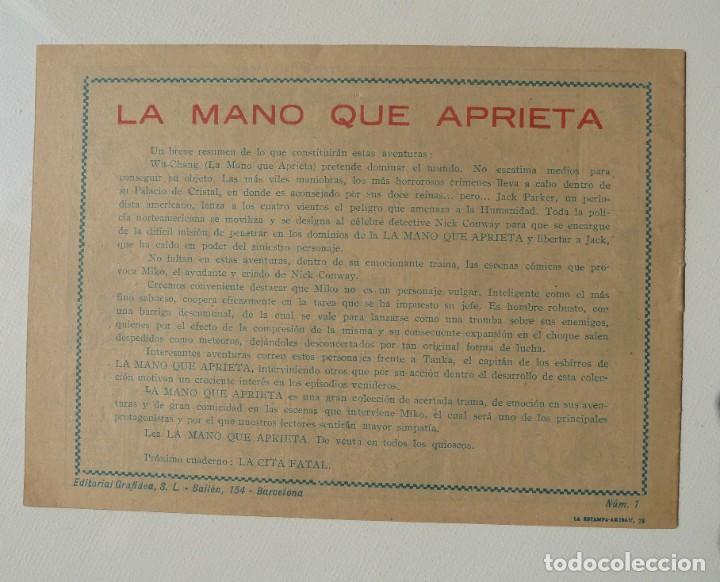 Tebeos: LA MANO QUE APRIETA LOTE Nº 1 - 3 - 4 - 5 - 6 - 7 - 8 - 9 - 10 GRAFIDEA 1948 - Foto 28 - 257694285