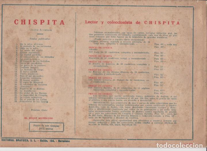 Tebeos: CHISPITA (4ª AVENTURA) Nº 28 (EDITORIAL GRAFIDEA) - Foto 2 - 260552375