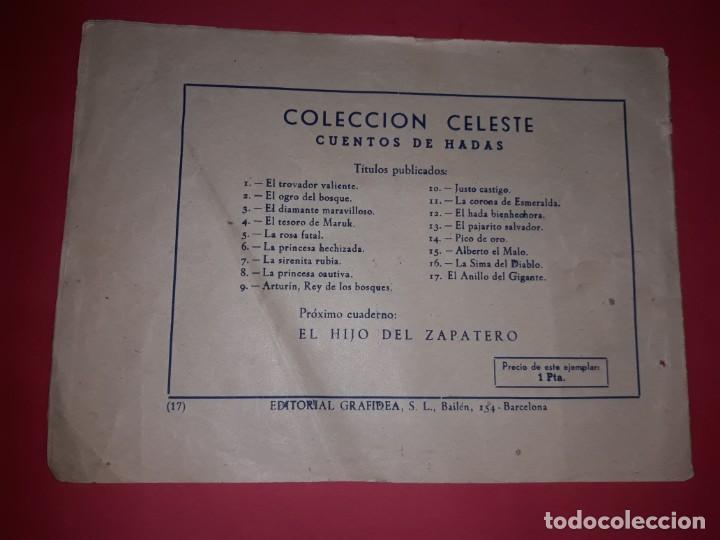 Tebeos: Cuento de hadas El Anillo del Gigante Colección Celeste Nº 17 1948 - Foto 2 - 261907275