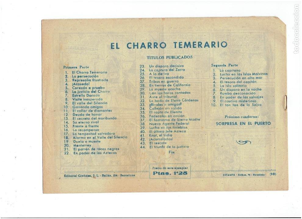 Tebeos: Archivo * El Charro Temerario * 2ª la capitana nº 10 * Editorial Grafidea 1955 * - Foto 2 - 268766689