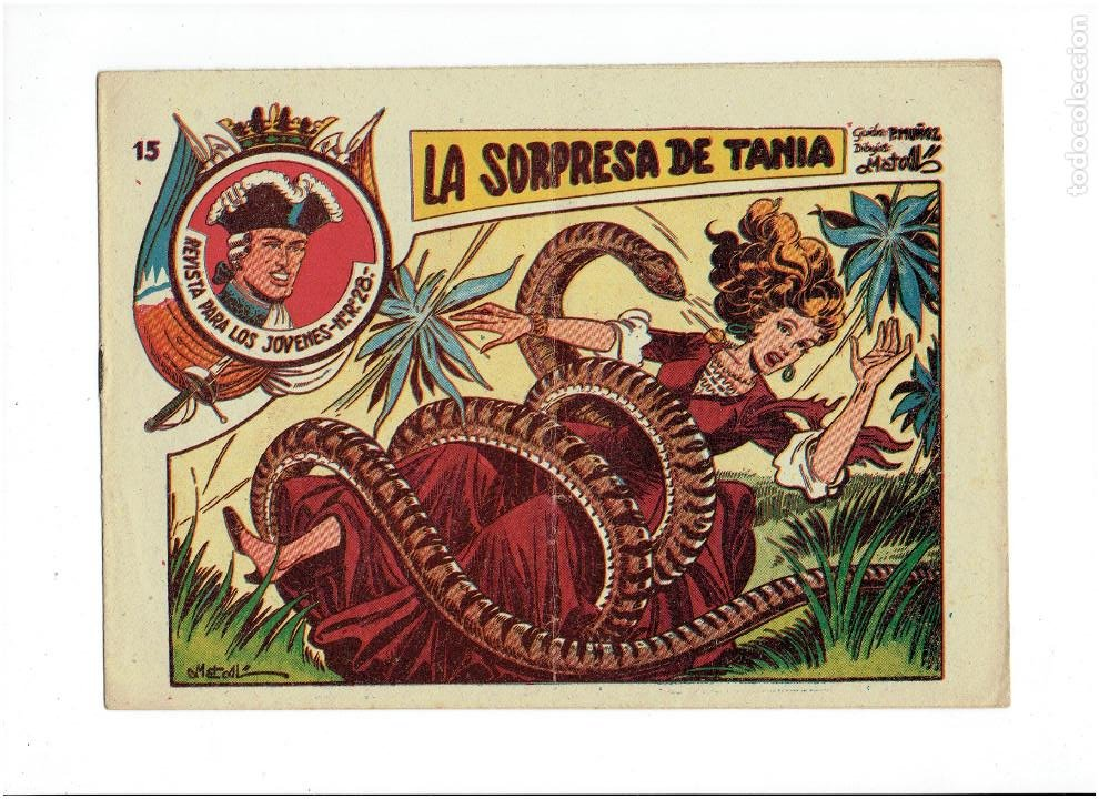 ARCHIVO * JARKO EL TEMIBLE * Nº 15 LA SORPRESA DE TANIA * ED. GRAFIDEA 1958 * ORIGINAL * (Tebeos y Comics - Grafidea - Otros)
