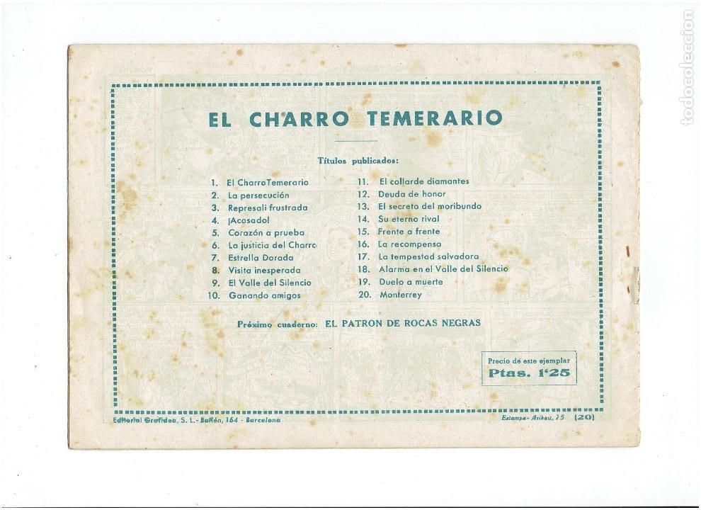 Tebeos: Archivo * EL CHARRO TEMERARIO Nº 20 ORIGINAL * ED. GRAFIDEA 1953 * - Foto 3 - 273332033