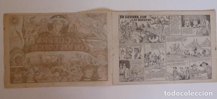 Tebeos: TOM CLARK Nº 4 GUERRA CON LOS DAKOTAS, GRAFIDEA 1945 - Foto 2 - 274804518