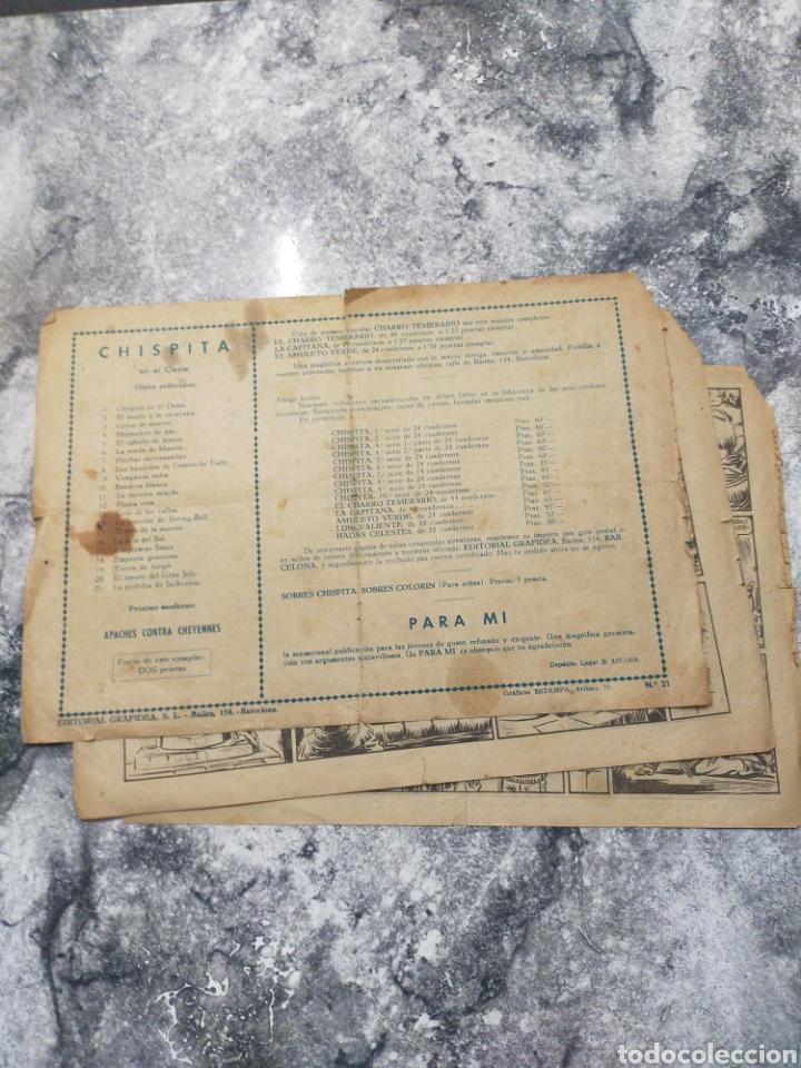 Tebeos: CHISPITA EN EL OESTE SEGUNDA AVENTURA COMIC ORIGINAL NÚMERO 21 - Foto 4 - 285541783