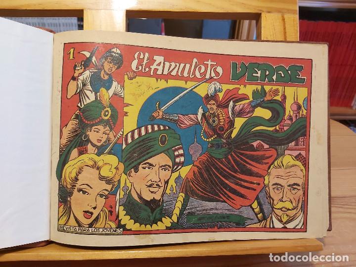 Tebeos: * El Amuleto Verde * Ed.Grafidea 1956 * Colección Completa son 24 Tebeos Originales * Piel de Lujo * - Foto 7 - 288032983