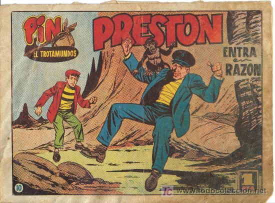 PIN EL TROTAMUNDOS (H. AMERICANA) ORIGINAL 1956 Nº. 10 (Tebeos y Comics - Hispano Americana - Otros)