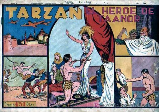 TARZAN Nº 8 EL HEROE DE TAANOR (Tebeos y Comics - Hispano Americana - Tarzán)