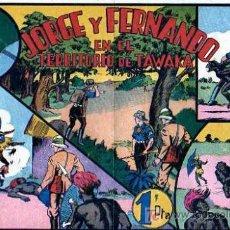 Tebeos: JORGE Y FERNANDO Nº34 EN EL TERRITORIO DE TAWAKA. Lote 4148997