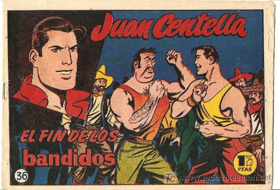 JUAN CENTELLA ,36 Y ULTIMO DE 1955, EL INENCONTRABLE, UN LUJO (Tebeos y Comics - Hispano Americana - Juan Centella)