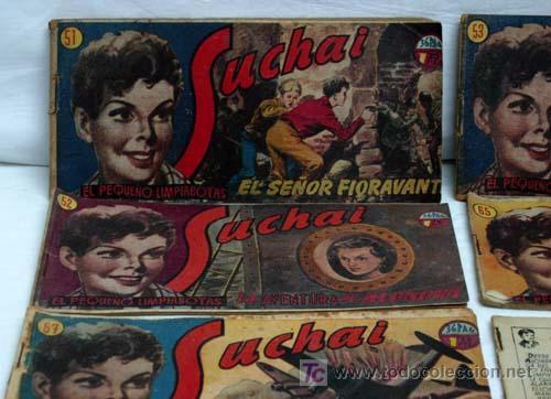 Tebeos: Suchai lote 6 tebeos nº 51 - 52 - 53 - 65 - 67 y otro sin nº y sin tapa Ed Hispano Americana 1949 - Foto 2 - 5263102