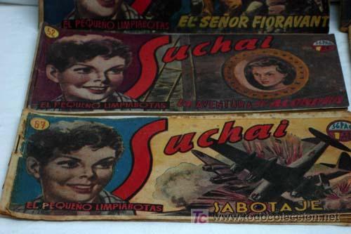 Tebeos: Suchai lote 6 tebeos nº 51 - 52 - 53 - 65 - 67 y otro sin nº y sin tapa Ed Hispano Americana 1949 - Foto 3 - 5263102
