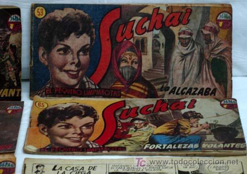 Tebeos: Suchai lote 6 tebeos nº 51 - 52 - 53 - 65 - 67 y otro sin nº y sin tapa Ed Hispano Americana 1949 - Foto 4 - 5263102