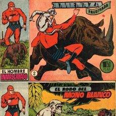 Tebeos: EL HOMBRE ENMASCARADO-EDIT HISPANO AMERICANA - AÑOS 40-NºS 1 Y 2 FORMATO PEQUEÑO- RAREZA CAJA 182. Lote 36952333