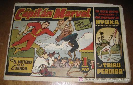 ANTIGUO TEBEO EL CAPITAN MARVEL . EN EL MISTERIO DE LA CUERDA - 1 PESETA -. HISPANO AMERICANA DE EDI (Tebeos y Comics - Hispano Americana - Capitán Marvel)