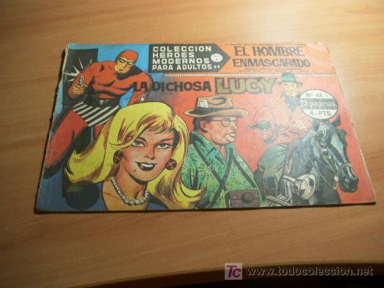 EL HOMBRE ENMASCARADO. COLECCION HEROES MODERNOS. SERIE A. Nº 41. (Tebeos y Comics - Hispano Americana - Hombre Enmascarado)