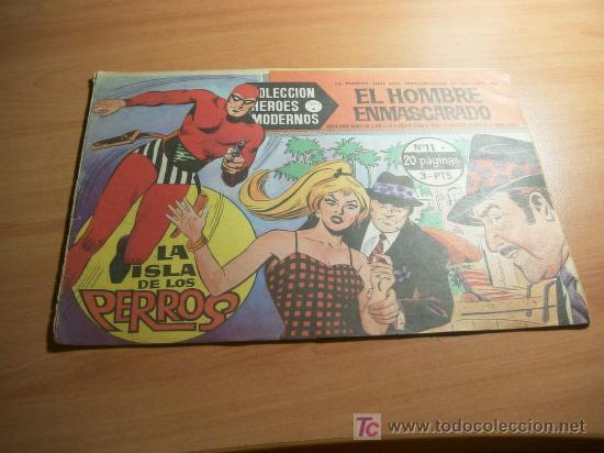EL HOMBRE ENMASCARADO. COLECCION HEROES MODERNOS. SERIE A. Nº 11. (Tebeos y Comics - Hispano Americana - Hombre Enmascarado)
