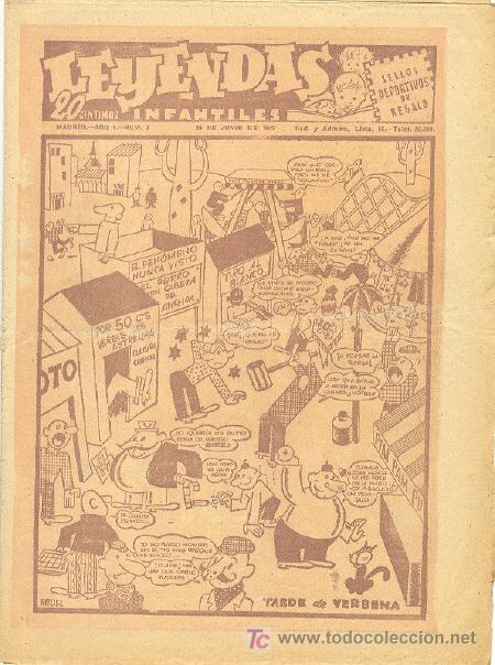 LEYENDAS INFANTILES Nº 7 UNA JOYA DE LOS AÑOS 40 (Tebeos y Comics - Hispano Americana - Leyendas Infantiles)
