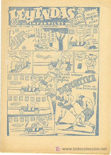 LEYENDAS INFANTILES Nº 13 UNA JOYA DE LOS AÑOS 40 (Tebeos y Comics - Hispano Americana - Leyendas Infantiles)