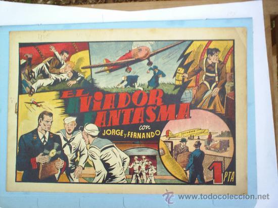 EL AVIADOR FANTASMA-JORGE Y FERNANDO -HISPANO AMERICANA (Tebeos y Comics - Hispano Americana - Jorge y Fernando)