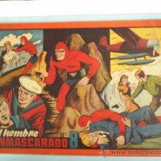 Tebeos: EL HOMBRE ENMASCARADO -ALBUM ROJO , N.8 , ULTIMO DE LA COLECCION -1943- --HISPANO AMERICANA. Lote 19989530