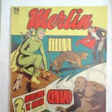 Tebeos: EXTRA N.5 MERLIN---1950-HISPANO AMERICANA . Lote 27369135