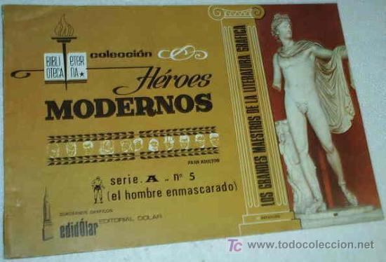 HEROES MODERNOS ALBUM DE LUJO SERIE A Nº 5 HOMBRE ENMASCARADO (Tebeos y Comics - Hispano Americana - Hombre Enmascarado)