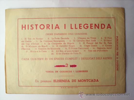 Tebeos: HISTORIA I LLEGENDA-N. 13-GIRONA L HEROICA-HISPANO AMERICANA - Foto 2 - 24562018