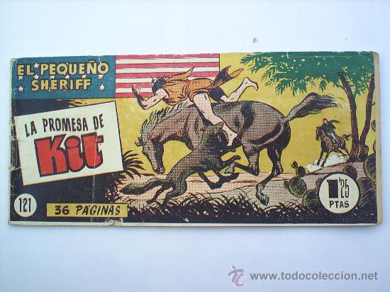 EL PEQUEÑO SHERIFF--N.121-HISPANO AMERICANA--ORIGINAL (Tebeos y Comics - Hispano Americana - Otros)