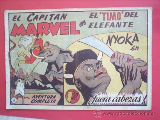 EL CAPITAN MARVEL N. 58 -HISPANO AMERICANA -ORIGINAL (Tebeos y Comics - Hispano Americana - Capitán Marvel)